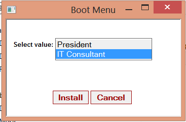 SCCM 2012: Simple HTA Boot Menu Solution to set Task Sequence