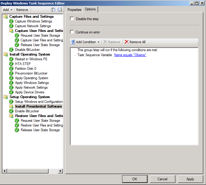SCCM 2012: Simple HTA Boot Menu Solution to set Task